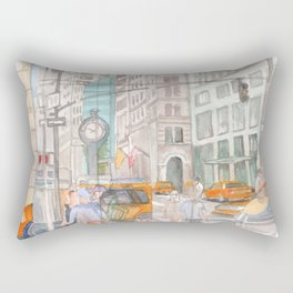 Reflection in the New York City windows II Rectangular Pillow