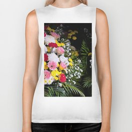 Tropical flowers Biker Tank