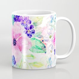 Pretty watercolor floral hand paint design Coffee Mug