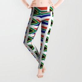 flag south africa 2,  African,Afrikaans,Mandela,apartheid, Johannesburg,Soweto,Pretoria,Durban,Tembi Leggings
