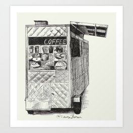 NYC Coffee Cart Art Print
