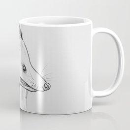 Possum Black Ink Drawing Coffee Mug