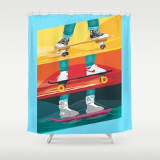 Back to the Future Alternative Movie Poster Shower Curtain