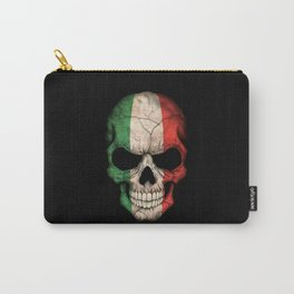 Dark Skull with Flag of Italy Carry-All Pouch