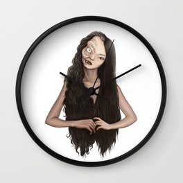 Two faced witch Wall Clock