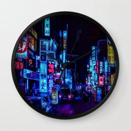 Blue and Purple nights Wall Clock