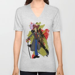 Disneyland Captain Hook - Evil Relations Unisex V-Neck