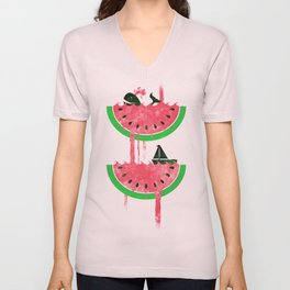 Watermelon falls Final Unisex V-Neck