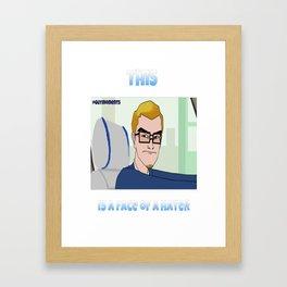 Hater Face Framed Art Print