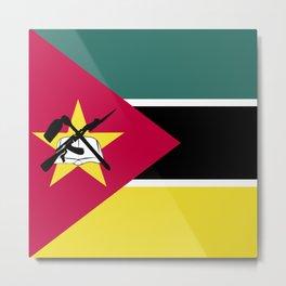 Mozambique flag emblem Metal Print