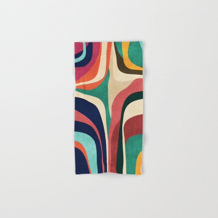 Impossible contour map Hand & Bath Towel