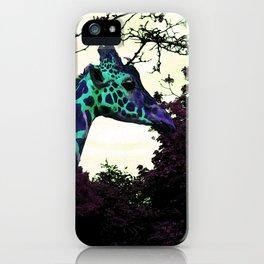 Alien Giraffe Has Landed iPhone Case