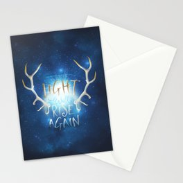 Light Will Rise Again Stationery Cards