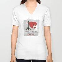 valentine V-neck T-shirts featuring VALENTINE by softdelusion