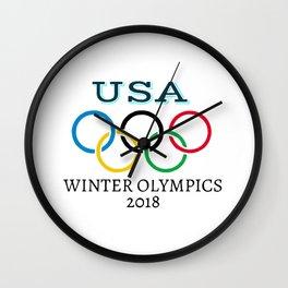 Winter Olympics 2018 Wall Clock