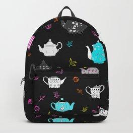 Neon Vintage teapots Backpack