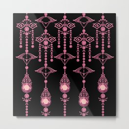 CASTELLINA JEWELS: PRETTY PINK PANACHE Metal Print