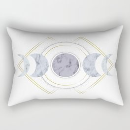 Marble Moon Phases Rectangular Pillow