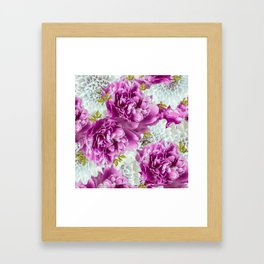 Summer bouquet of purple and white flowers - #Society6 #buyart Framed Art Print