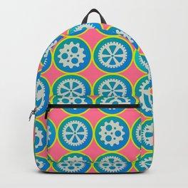 Gearwheels pattern Backpack