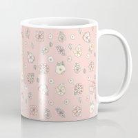 leah flores Mugs featuring Flores by Tuky Waingan