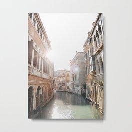 Glistening Venice Canal   Venice Italy travel photography fine art print, Saige Ashton Prints  Metal Print
