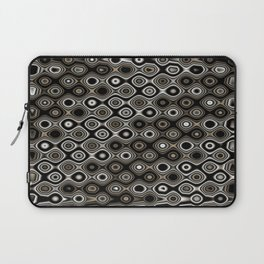 Wobbly Dots in silvery grey Laptop Sleeve