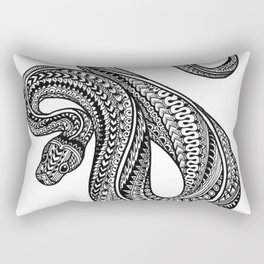 Ornate ball python Rectangular Pillow