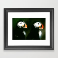 PUFFIN PARADE Framed Art Print