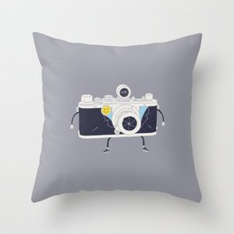 Old Skool Cam Throw Pillow