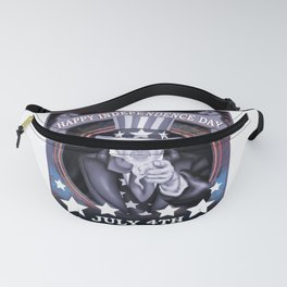 Happy Independence Day July 4th American Pride Tee Shirt Fanny Pack