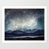 northern lights Art Prints featuring Northern lights by LisaB