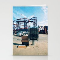 monkey island Stationery Cards featuring Coney Island by The Clutter Monkey