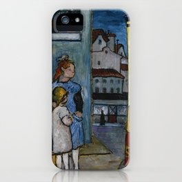 Marianne Werefkin 1860 - 1938  (TWO CHILDREN IN FRONT OF A BILLBOARD FOR GRAND CIRQUE) iPhone Case