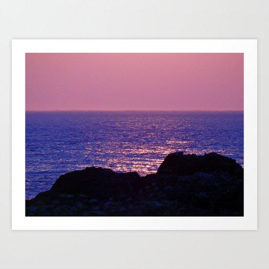Pink at Dawn Art Print