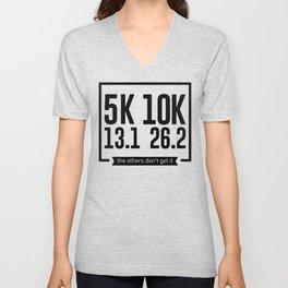 5K 10K 13.1 26.2 Runners Running Marathon Race Unisex V-Neck