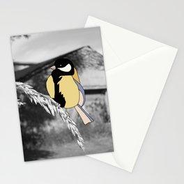 Blue Tit on Grass Stationery Cards