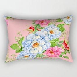 Vintage Floral Pattern No. 6 Rectangular Pillow
