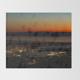 Vancouver at Sunset Throw Blanket