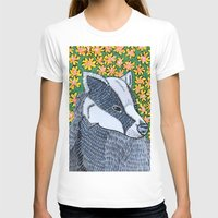 badger T-shirts featuring Badger Badger Badger by Lorraine Stylianou