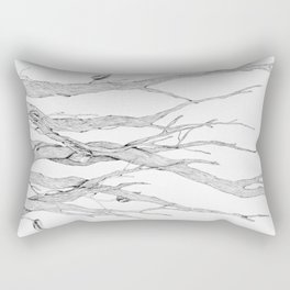 Branches in Ink Rectangular Pillow