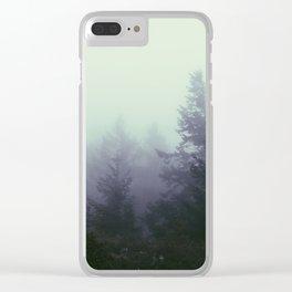 A Foggy Hike Clear iPhone Case