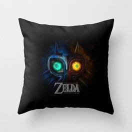 MAJORA MASK - ZELDA Throw Pillow