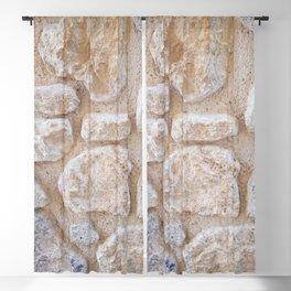 Ancient Minoan Stone Wall Blackout Curtain