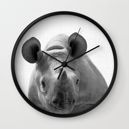 Rhino Decor Wall Clock