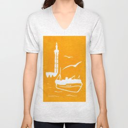 Home in Yellow Unisex V-Neck
