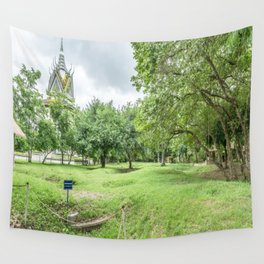 The Killing Fields and Stupa, Cambodia Wall Tapestry