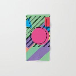 90s Retro Colored Shapes v4 Hand & Bath Towel
