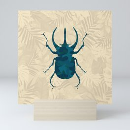 Original Camouflage Pattern Scarab Beetle Mini Art Print