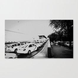 Amor y taxis Canvas Print